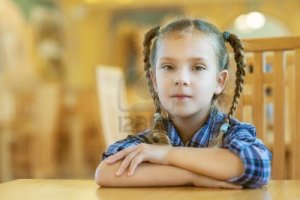 girl in pigtails